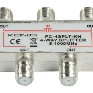 KÖNIG Splitter F König CATV 4 OUT DC PASS DVB-T NO SAT-0