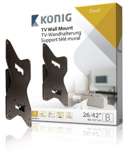 """Supporto fisso per montaggio a parete 26-42""""/ 66-107 cm - 40 kg / 88 lbs-0"""