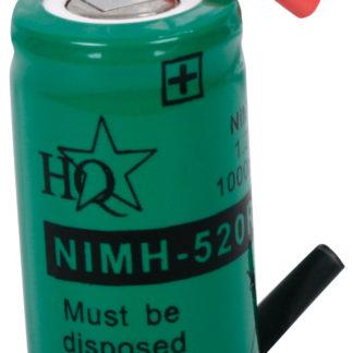 batteria NiMH 1.2 V 1000 mAh Dim.:Ø 16.8 x 28 mm -0