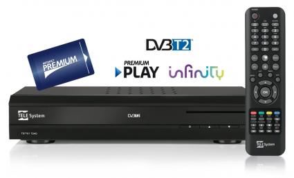 TS7701 Telesystem SmartBox Digitale Terrestre DVB-T2 HD, compatibile Premium Play ed Infinity-0