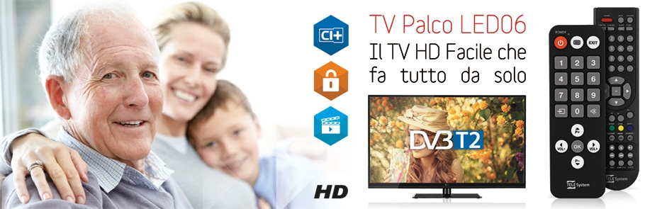 TV LED DVB-T2 TELESYSTEM Palco22 LED06 -0