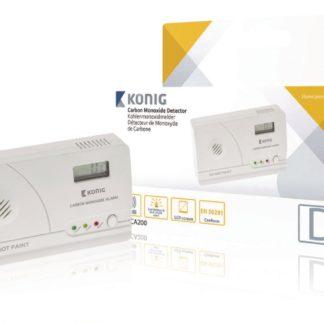 Rilevatore di monossido di carbonio con conformità EN50291 e schermo LCD KÖNIG -0