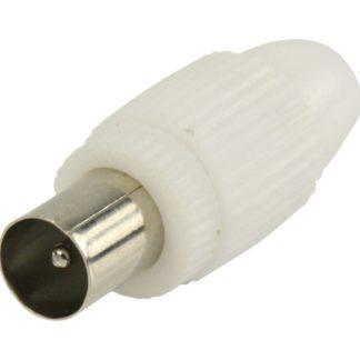 Connettori coassiali maschio colore bianco 2 pz-0