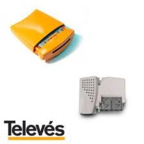 Amplificatore da palo III/UHF/UHF guadagno 25 dB, livello d'uscita 114 dBuV LTE + alimentatore PicoKom 200 mA 2 out-0