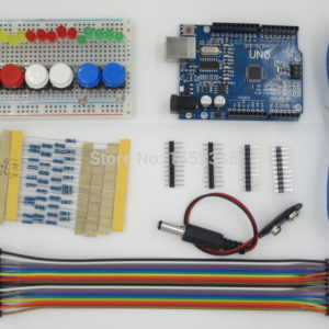 starter kit uno r3 mini breadboard pulsante ponticello led per arduino compatile-0