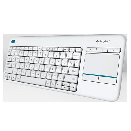 Wireless Touch Keyboard K400 Tastiera HTPC per TV collegati al PC bianca-0