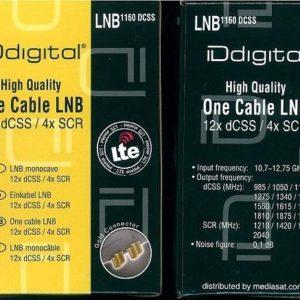 LNB MONOCAVO HUMAX 12XDCSS 4 X SCR + SPLITTER-0