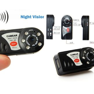Mini Telecamera WiFi Q7 HD Motion Detect Slot Micro SD -0
