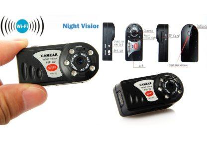 Mini Telecamera WiFi Q7 HD Motion Detect Slot Micro SD -0