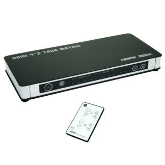 MATRICE SWITCH HDMI 4IN / 2OUTCON TELECOMANDO-0