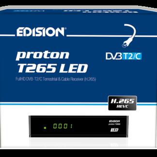 EDISION proton T265 LED DVB-T2 HD a, 265 HEVC Full HD Hybrid FTA ricevitore HDTV DVB-T2/C (display, HDMI, SCART, S/PDIF, USB 2,0) -0